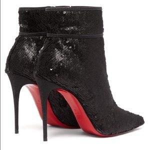 Christian Louboutin Shoes - 🖤SOLD🖤Christian Louboutin sequin boots 36/6